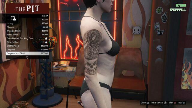 File:Tattoo GTAV-Online Female Right Arm Dragons and Skull.jpg