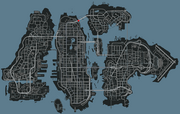 GTAIV Liberty City map