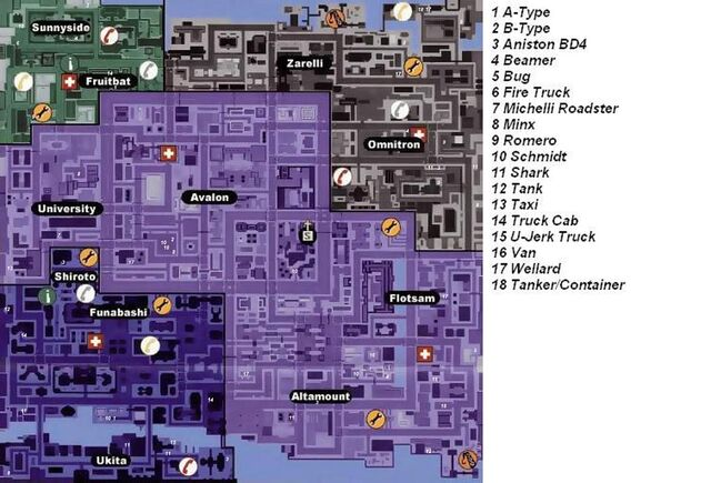 File:Gta2 Vehicle Locations Map Downtown.JPG