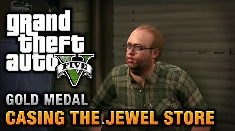 GTA 5 - Mission 11 - Casing the Jewel Store 100% Gold Medal Walkthrough