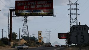 Tatavaiam Truckstop GTAV Sign Northbound