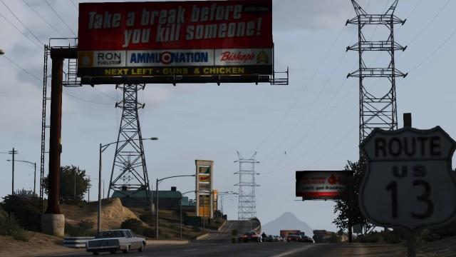 File:Tatavaiam Truckstop GTAV Sign Northbound.jpg