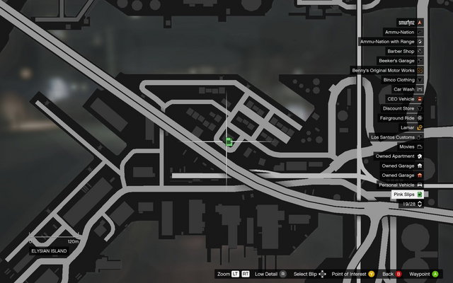 File:Vehicle Export Showroom GTAO Pinkslips Elysian Island Map.png