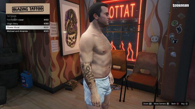 File:Tattoo Michael Right Arm GTAV Flower Mural.jpg