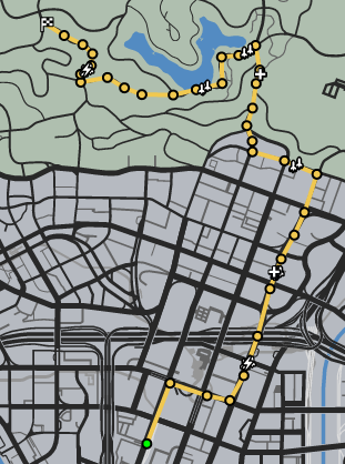 Home In The Hills GTAO Race Map