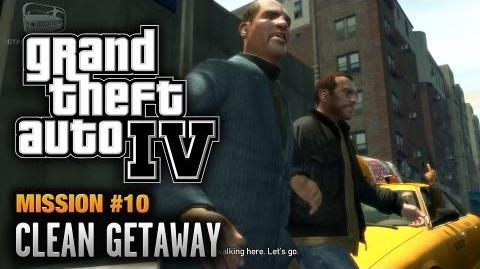 GTA 4 - Mission -10 - Clean Getaway (1080p)