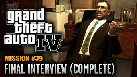 GTA 4 - Mission 39 - Final Interview Complete Mission (1080p)