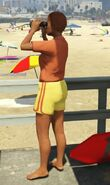 Lifeguard GTAVe Outfit Orange tee Yellow shorts