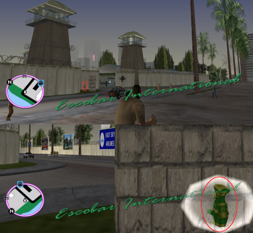 File:GTAVC HiddenPack 100 NW behind Fort Baxter Air Base sign at its entrance.png