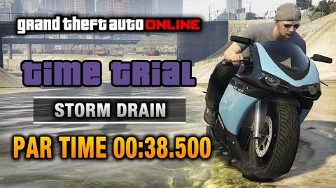 GTA Online - Time Trial 7 - Storm Drain (Under Par Time)
