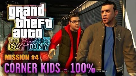 GTA The Ballad of Gay Tony - Mission 4 - Corner Kids 100% (1080p)