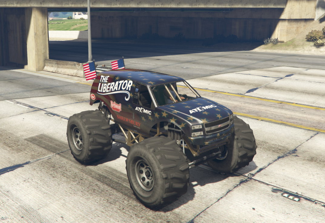 A Glitched Black The Liberator In A Gta Online Race