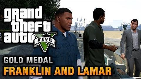 GTA 5 - Intro & Mission 1 - Franklin and Lamar 100% Gold Medal Walkthrough