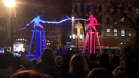 Two men two Tesla coils special suits = ELECTRICITY FIGHT!