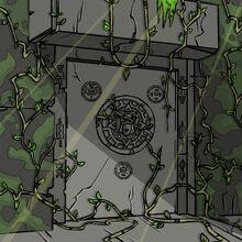 Deserted tomb entrance