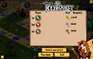 Keyquest end