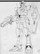 GN-000 0 Gundam - with Beam Gun and Gundam Shield