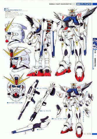 File:F91 Gundam Formula 91 - Specifications and Design.jpg