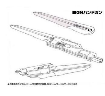 File:GNW-20003 Arche Gundam Drei GN Handgun Lineart.jpg