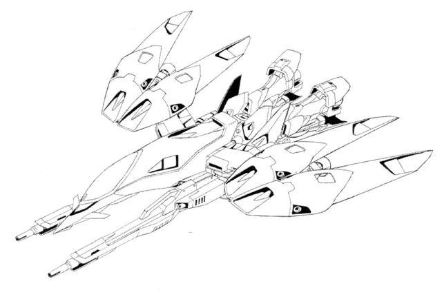 File:XXXG-00W0 Wing Gundam Zero Neo-Bird Mode Top View Lineart.jpg