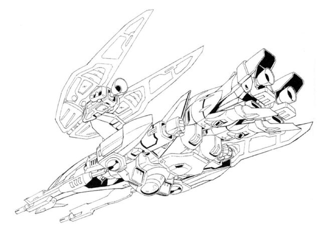 File:XXXG-00W0 Wing Gundam Zero Neo-Bird Mode Bottom View Lineart.jpg