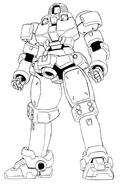 OZ-06MS Leo Front View Lineart