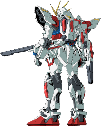 File:GAT-X105BST Star Build Strike Gundam - Rear.png