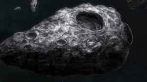 Celestial Being's hidden base at Lagrange 3