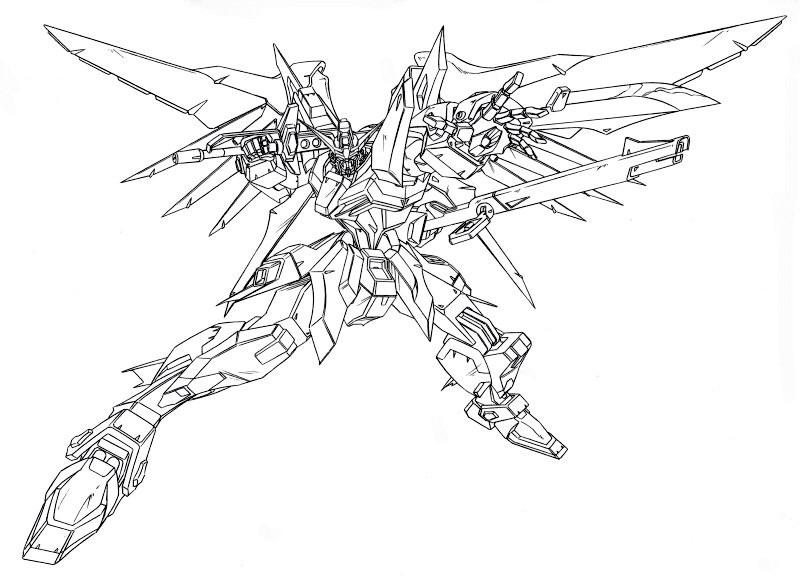 Zaku Lineart : Image seed lineart g the gundam wiki fandom