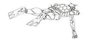 Turtle Gundam - Cameo Lineart