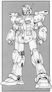 RGM-79N GM Custom - Front View Lineart