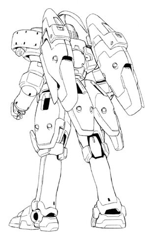 File:OZ-00MS3 Tallgeese III Back Lineart.jpg