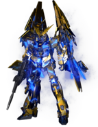 RX-0 Unicorn Gundam 03 Phenex (Destroy Mode) CG Art (Front)