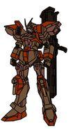 ORB-103C Crisis Buster Gundam with Bazooka Striker