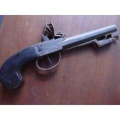 A flintlock pistol with a <a href=