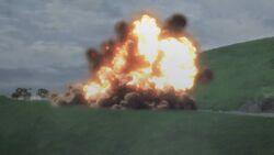 Klara's T-34 hit by Karl