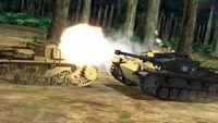 StuG battling Semovente