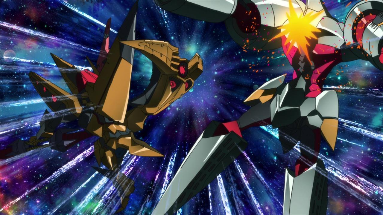 File:Space King Kittan kicking Arc Gurren Lagann.jpeg