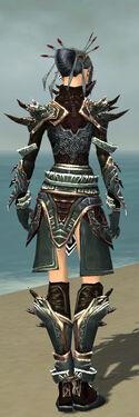 Necromancer Asuran Armor F gray back