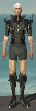 Necromancer Cabal Armor M gray chest feet front