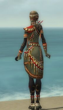 Ritualist Elite Canthan Armor F gray back