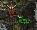 Zhengjo Temple map