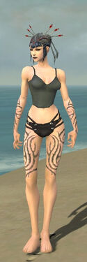 Necromancer Scar Pattern Armor F gray arms legs front