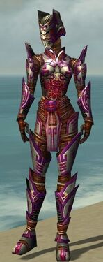 Warrior Asuran Armor F dyed front