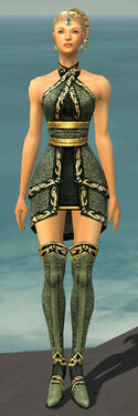 Mesmer Shing Jea Armor F gray chest feet front