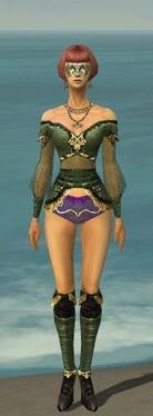 Mesmer Luxon Armor F gray chest feet front