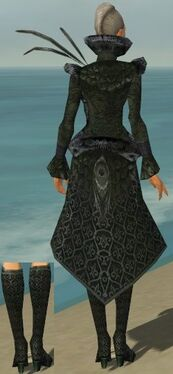 Mesmer Elite Elegant Armor F gray chest feet back