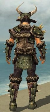 Warrior Elite Charr Hide Armor M gray back