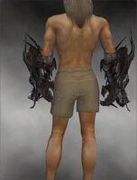 Dragon Gauntlets M gray back
