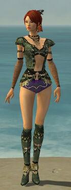 Mesmer Elite Luxon Armor F gray chest feet front
